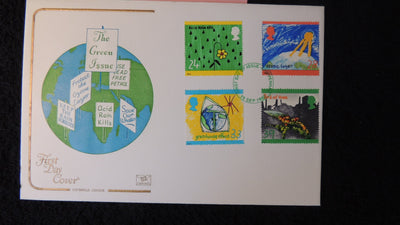 Great Britain FDC Cotswold 1992 green issue environment