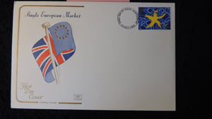 Great Britain FDC Cotswold 1992 single european market flags