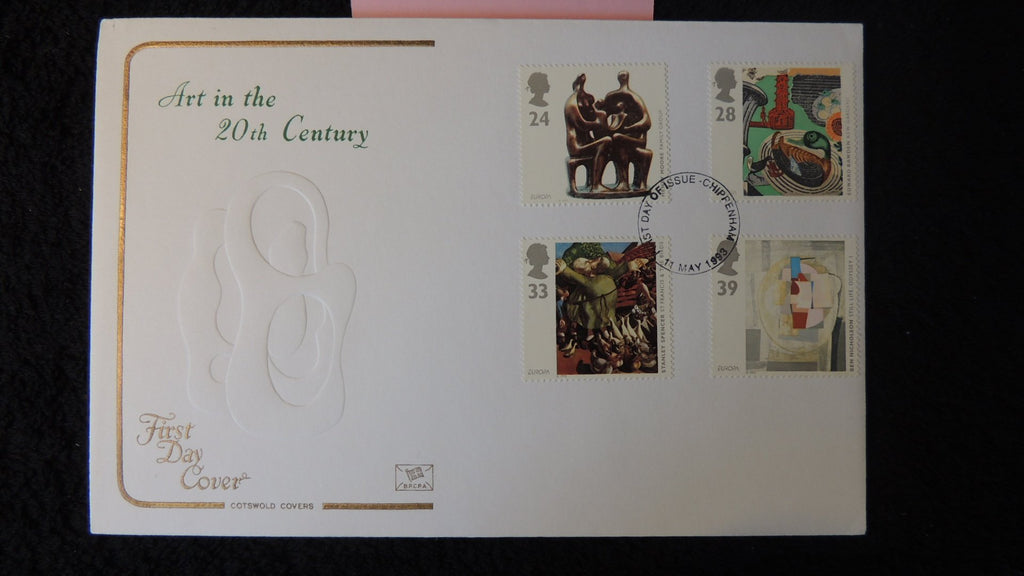 Great Britain FDC Cotswold 1993 art in the 20th century europa sculpture modern abstract