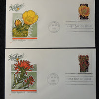 USA 1992 FDC Wildflowers plains pricklypear indian paintbrush columbus postmark