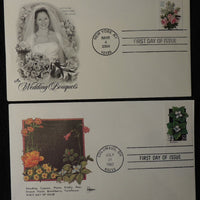 USA 1992 2004 FDC flowers bunchberry wedding bouquets