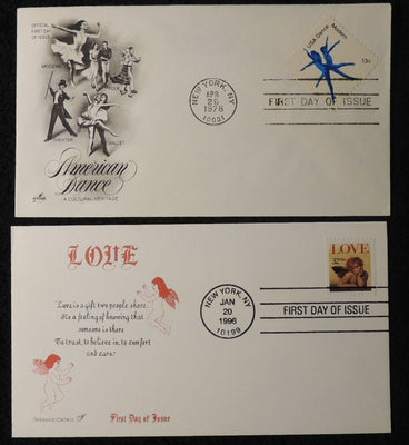USA 1978/96 FDC american dance love folk ballet theatre modern new york postmark