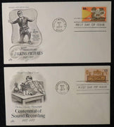 USA 1977 FDC jazz singer al jolson sound recording hollywood washington dc postmark