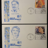 USA 1994 FDC jazz and blues singers muddy waters mildred bailey greenville postmark
