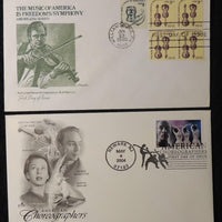 USA 1980 2004 FDC music choreographers violin alvin ailey george balachine agnes de mille martha graham