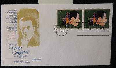 USA 1973 FDC george gershwin music composer beverly hills postmark
