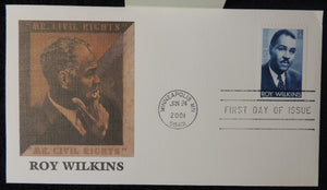 USA 2001 FDC roy wilkins black heritage civil rights minneapolis postmark