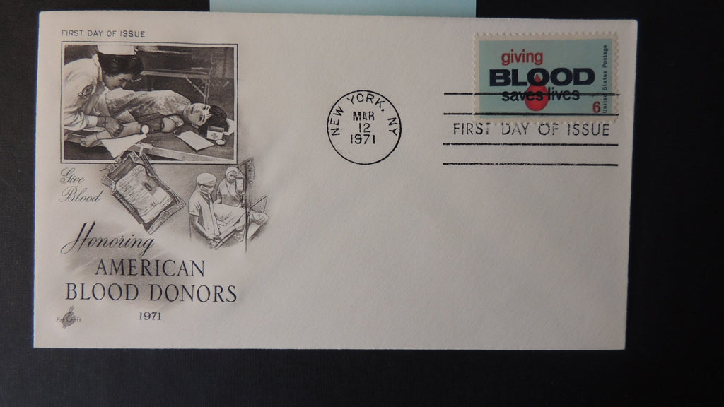USA 1971 FDC american blood donors medical new york postmark good used