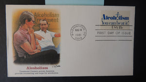 USA 1981 FDC alcoholism diseases washington postmark good used