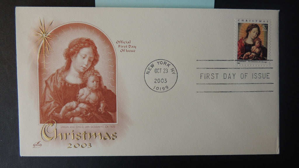 USA 2003 FDC artcraft christmas religion new york postmark good used