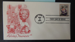 USA 2004 FDC artcraft christmas religion children ornaments new york postmark good used