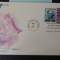 USA 1971 FDC 1.7c embossed nonprofit org pre-cancelled fleetwood washington bells good used