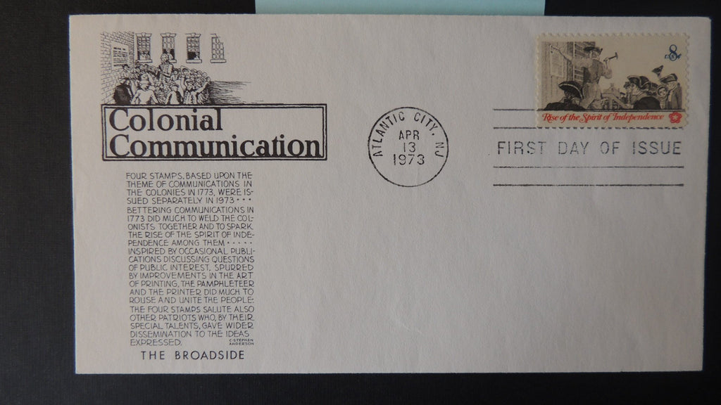USA 1973 FDC colonial communication indepenence good used