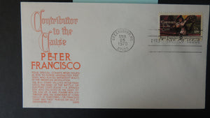 USA 1975 FDC 18c anderson cover contributor to the cause peter francisco good used