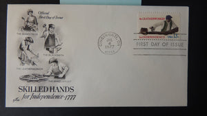 USA 1977 FDC 13c skilled hands for independence blacksmith seamstress leatherworker wheelwright good used