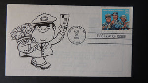 USA 1989 FDC letter carriers postman postal good used