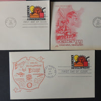 USA FDC 1977 x3 13c stamped stationary energy conservation and development good used