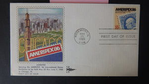 USA FDC 1985 gillcraft amerpex86 stamp exhibitions good used