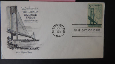 USA FDC 1964 artmaster cover verrazano-narrows bridge good used