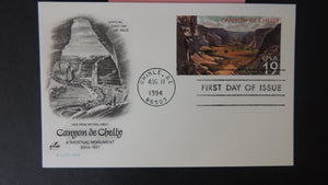 USA FDC 1994 artcraft stamped envelope canyon de chelly good used