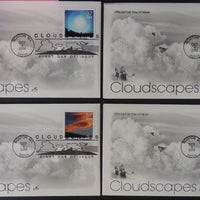 USA FDC 2004 x4 artcraft cloudscapes kites children good used