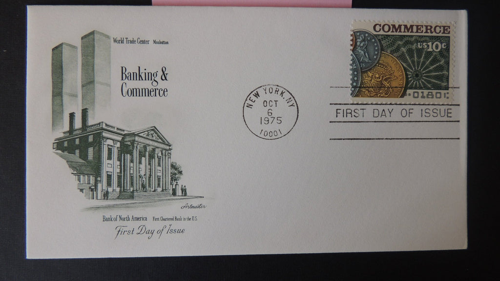 USA FDC 1975 artmaster banking and commerce coins good used