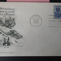 USA FDC 1979 artmaster society for civil engineers bridges james laurie good used
