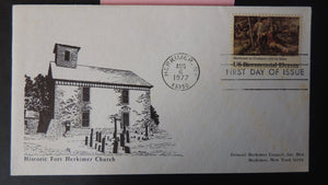 USA FDC 1977 fort herkimer at oriskany art church religion battles militaria good used