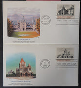 USA FDC 1980/81 fleetwood religion architecture trinity church boston biltmore house good used