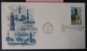 USA FDC 2003 southeastern lighthouses good used