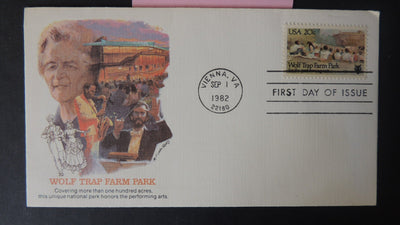 USA FDC 1982 wolf trap farm national park fleetwood cover music good used