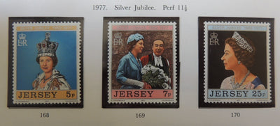 Jersey 1977 Silver Jubilee set of 3 values MNH
