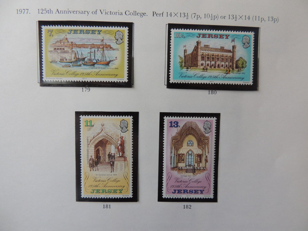 Jersey 1977 Anniversary Victoria College set of 4 values MNH