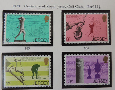 Jersey 1978 Golf Centenary set of 4 values MNH