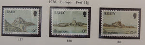 Jersey 1978 Europa forts set of 3 values MNH