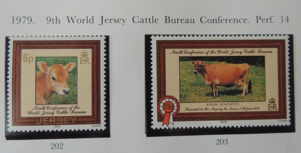 Jersey 1979 Cattle 2 values MNH