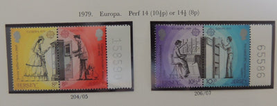 Jersey 1979 Europa set of 4 values MNH