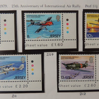 Jersey 1979 Air Rally set of 5 values MNH