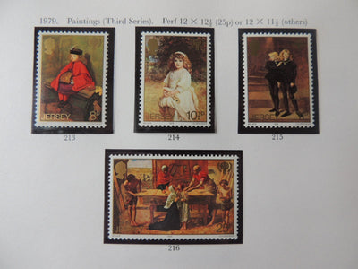Jersey 1979 paintings (third series) set of 4 values MNH