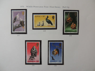 Jersey 1979 Wildlife preservation set of 5 values MNH