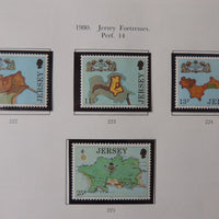 Jersey 1980 Fortresses set of 4 values MNH