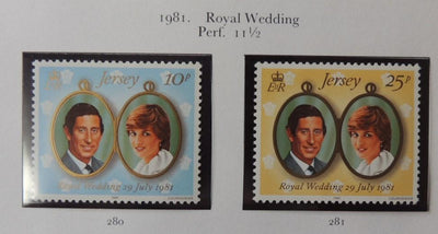 Jersey 1981 Royal Wedding MNH