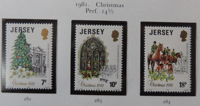 Jersey 1981 Christmas set of 3 values MNH
