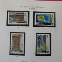 Jersey 1982 Europa Historical events set of 4 values MNH