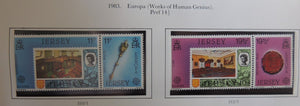 Jersey 1983 Europa Works of human genius set of 4 values MNH