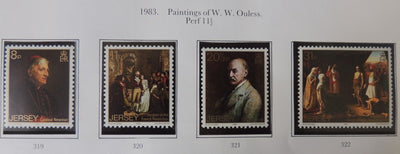 Jersey 1983 Paintings Walter Ouless set of 4 values MNH