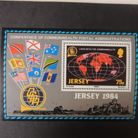 Jersey 1984 Links with the commonwealth miniature sheet MNH