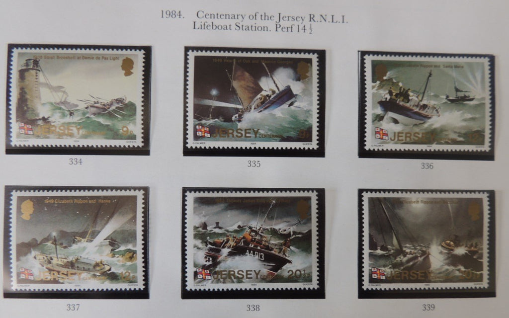 Jersey 1984 Lifeboats Centenary set of 6 values MNH
