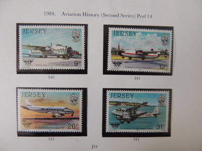 Jersey 1984 Aviation history (2nd series) set of 4 values MNH