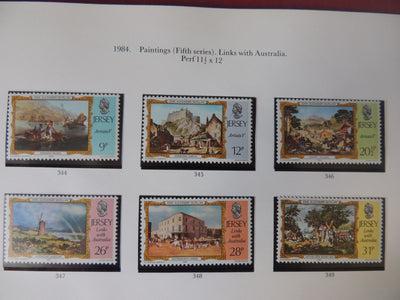 Jersey 1984 Paintings (fifth series) Links with Australia MNH
